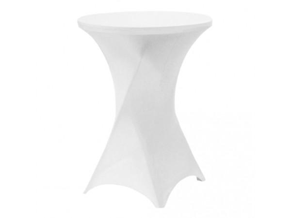 Pokrowiec Elastyczny na stolik koktajlowy Biały