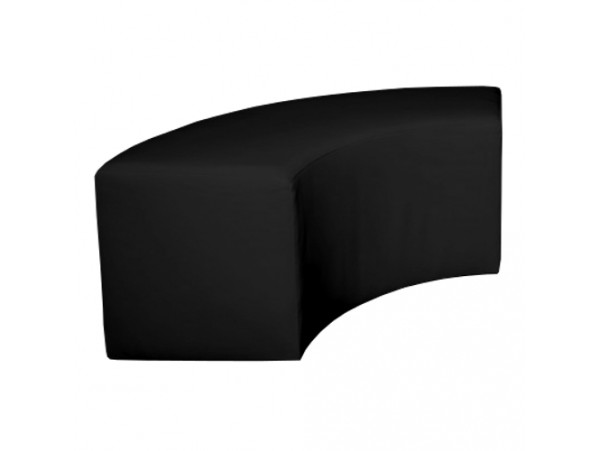Pufa Ottoman 1/4 Black