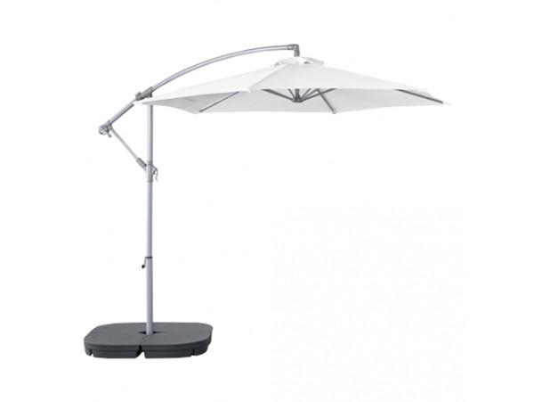 Parasol biały fi 3m