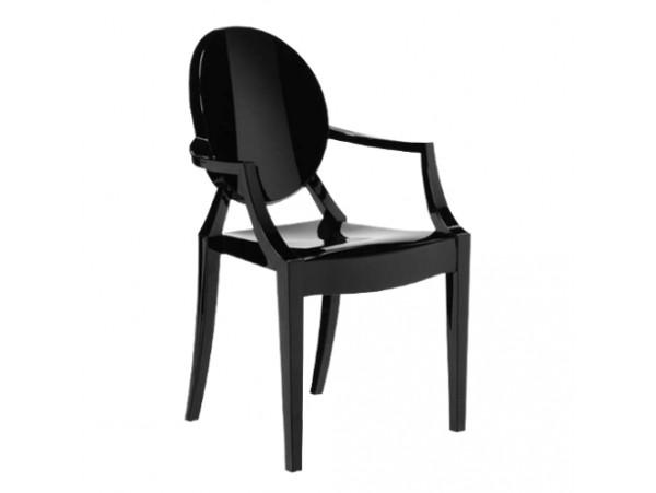Krzesło Ghost Czarne